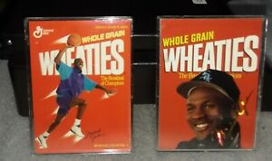 Details About 2 Michael Jordan Wheaties Baseball Basketball Cards 1994 1995 Collectibles Mint