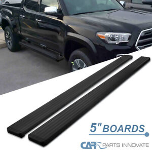 "For 05-21 Toyota Tacoma Double Cab 5"" Black Side Step Nerf Bar Running Board"