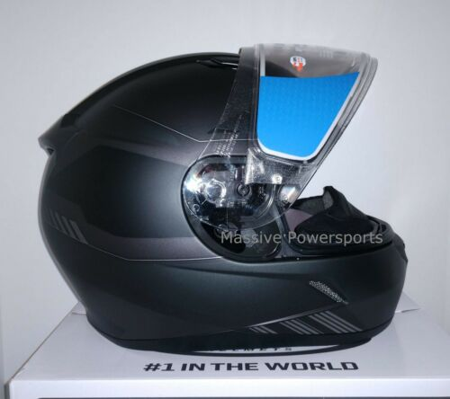 HJC CL-17 Combat Snowmobile Helmet Gray Black XL Extra Large Snell M2015 CL-17SN