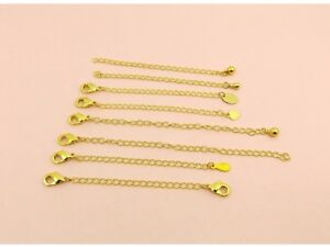 Gold-Filled-NECKLACE-Bracelet-Curb-CHAIN-SAFETY-Extension-EXTENDER-Clasp-or-Drop