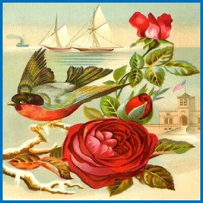 30 Custom Retro Flower Art Personalized Address Labels