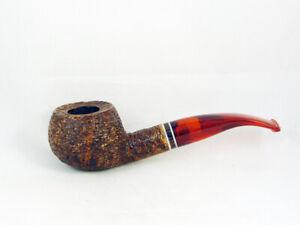 PIPA VOLKAN RADICA Antiqua rusticata Tobacco Pipe pipa filtro 9mm pfeife