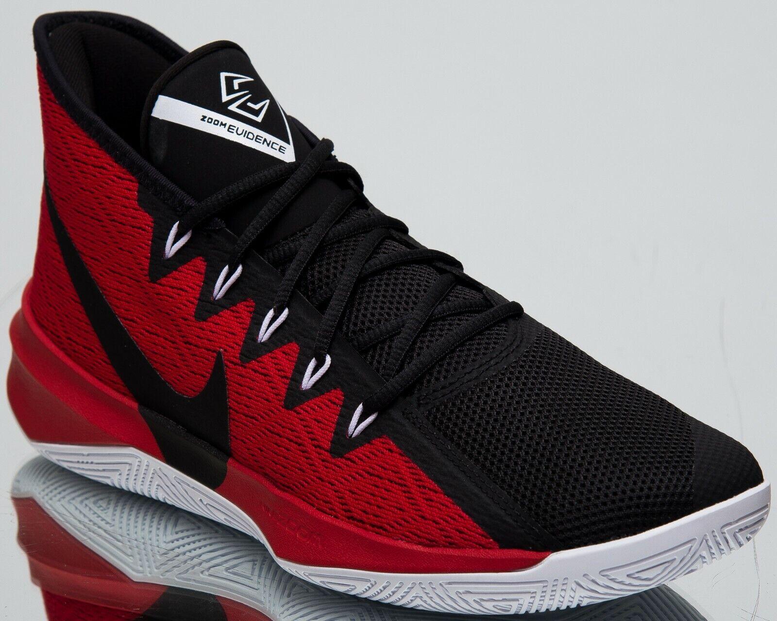 Nike Zoom Evidence III New Mens Basketball shoes Black University Red AJ5904-001