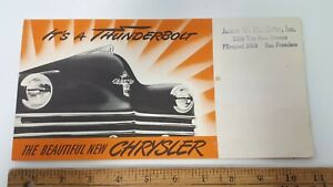 1941-CHRYSLER-Original-Part-Color-Folder-Very-Good-Condition-US
