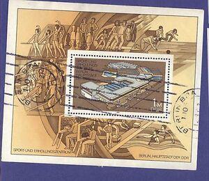 DDR-1981-Berlin-Sports-Centre-STAMP-GERMAN-used-Mini-sheet