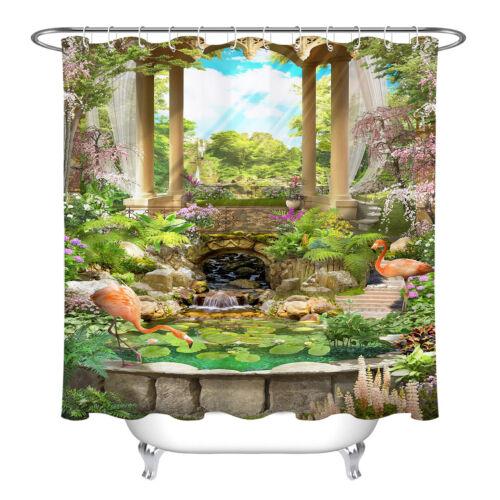 "72/""X72/"" Waterproof Fabric Seascape Landscape Bathroom Decor Shower Curtain Liner"