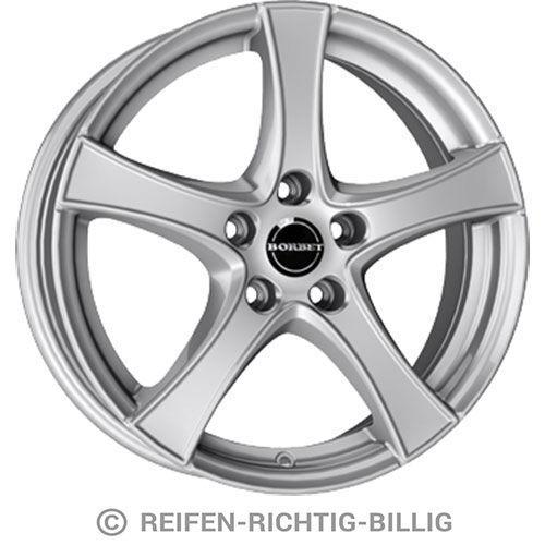4 x Alufelge Borbet F2 6,5x17 ET45 brilliant silver