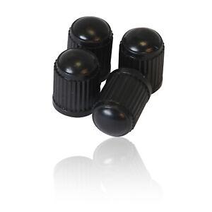 4-x-Plastic-Tyre-Valve-Dust-Cap-Cover-BLACK