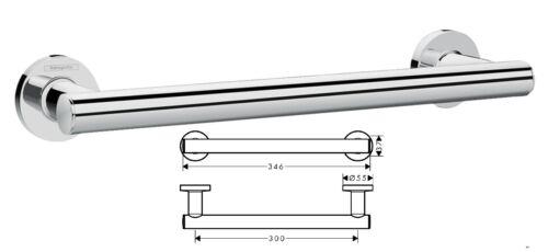 41713000 Hansgrohe Logis Universal Grab Rail Bar Chrome 345mm