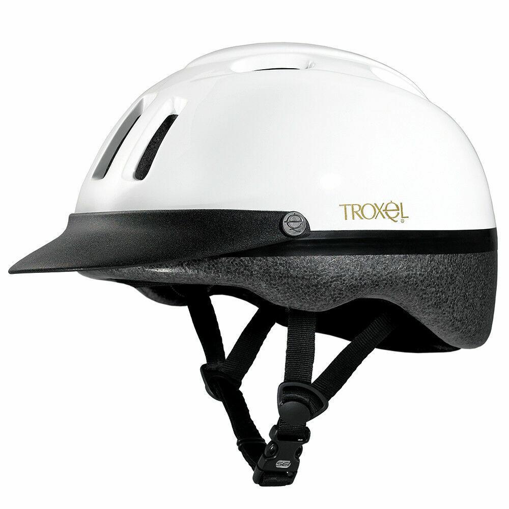 Troxel Sport White Riding Helmet-XS