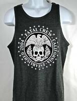 nwt Men's Heather Gray Eagle Skull Official Seal Tank Top - Fatal Clothing