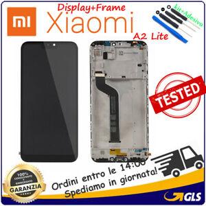 TOUCH-SCREEN-VETRO-LCD-DISPLAY-CON-FRAME-Per-XIAOMI-MI-A2-LITE-NERO