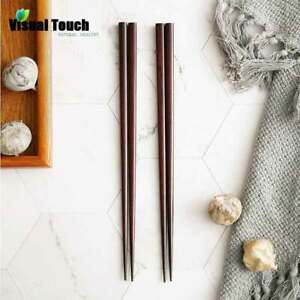 2-or-5-Pairs-Iron-Wood-Japanese-Brief-Style-Chopsticks-Set-Brown-Wooden-Sushi