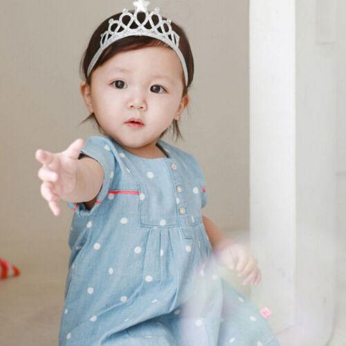 Baby Kids Girl Infant Hair Accessory Tiaras Princess Crown Headband HairbanODCA