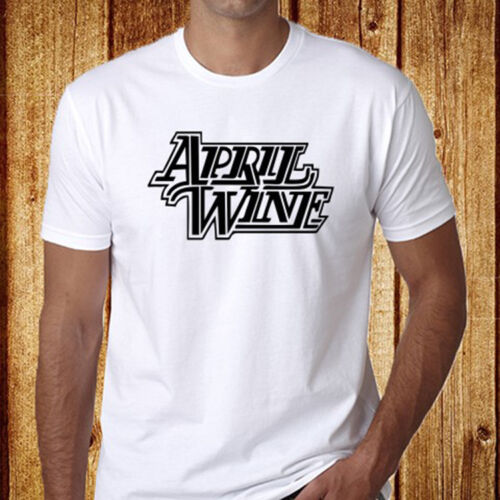 New APRIL WINE Rock Band Men/'s White T-Shirt Size S to 3XL Free Shipping