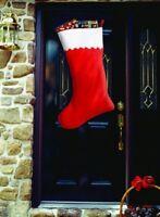 Super Jumbo Christmas Stocking 34 Red White Felt Sock Gift Santa Bag Big Giant