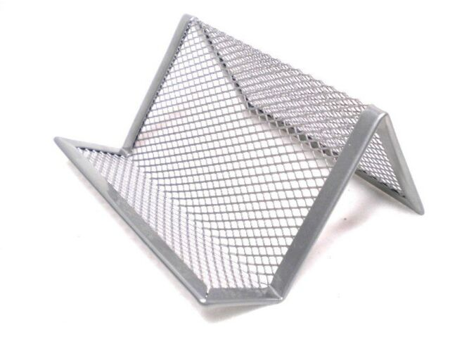 Office Desk Metal Wire Mesh Business Card Display Holder Stand ...