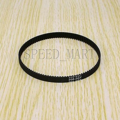 GT2 Timing Belt Annular Loop Cogged Closed Rubber 6mm Width 2mm Pitch 208-2GT