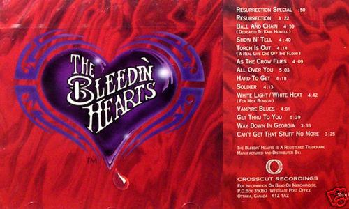 The Bleedin' Hearts Paul Fenton Canadian blues rock AMAZING SLIDE GUITAR!! CD