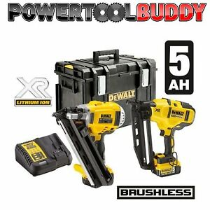 DeWalt-DCK264P2-18v-XR-Li-Ion-Cordless-Brushless-Nailer-Pack-5-0Ah-Batteries-B30