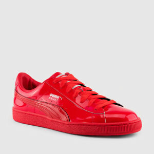 best service a29f7 3f800 Details about Boys Puma Basket Patent Leather Sneakers Size 6 # 363011 01  Red