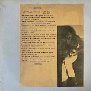 Frank Zappa Captain Beefheart Confidential Lp Vg G
