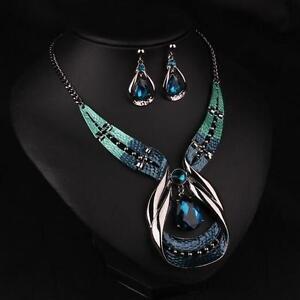 Bib Pendant Necklace Statement Chain Choker Jewelry Chunky Women Crystal Fashion
