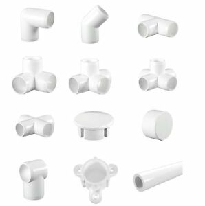 White Display Furniture Grade Pvc Pipe Fittings 3 Way Elbows