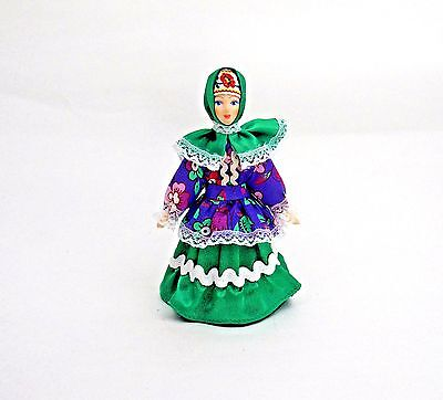 "19th Century,russia 6.5"" Tall Possessing Chinese Flavors Collectibles 100% True Collectible Doll-women's Traditional Cossack Suit Russian"