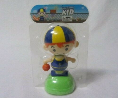 SOLAR POWER SPORTS BASKETBALL KID DANCING CHARACTER FIGURE NEW IN PACKAGE