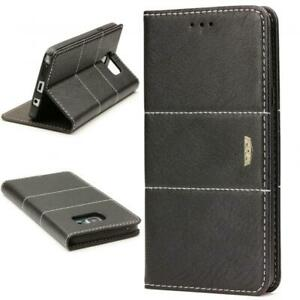 Urcover-Samsung-Galaxy-Note-5-Wallet-Housse-de-Protection-Stand-Cover-Etui-Compartiment