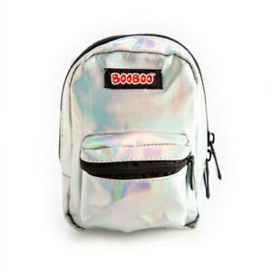 BooBoo-MINI-BACKPACK-IRIDESCENT-SILVER-Great-Item-For-Busy-People-On-The-Go