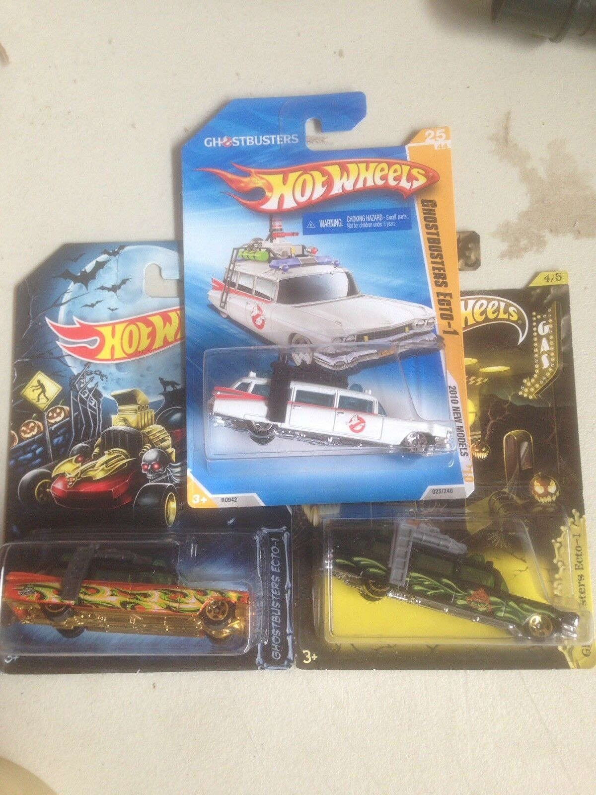 HOTWHEELS GHOSTBUSTERS ETCO-1 SET OF 3 - BRAND NEW