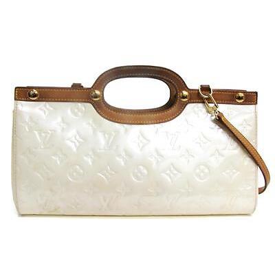 Authentic LOUIS VUITTON Roxbury Drive 2way Hand Bag Vernis Perle M91374