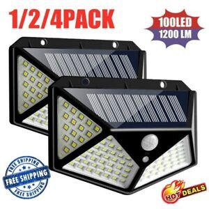 100-LED-Luz-De-Pared-De-Energia-Solar-Sensor-De-Movimiento-Infrarrojo-Pasivo-Impermeable-Al-Aire