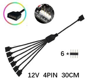 Details about PC MOD motherboard 12V/5V AURA RGB FAN Female Socket Multi  connectors cable ASUS