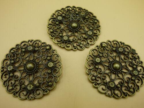 1x Mandala Blume Antik Bronze Charm Schmuck Anhänger Ketten Basteln Armband