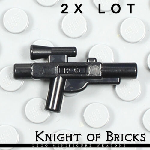 LEGO 2x Lot Minifigure BLACK Star Wars Weapon Gun Blaster Small Rifle