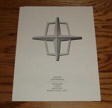 Original 1972 1973 Lincoln Continental Andy Hotton Sales Brochure 72 73