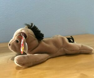 """TY Beanie Baby """"Derby the Coarse-Mane Horse With a Star """" Style #40068"""
