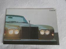 Rolls Royce Corniche saloon  convertible 1977. brochure.