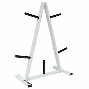 1-034-STANDARD-WEIGHT-BARBELL-DISC-STAND-TREE-PLATE-GYM-STORAGE-RACK-5-POST-HOLDER