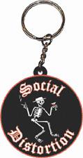 46022 Social Distortion Skeleton Martini Rubber Key Chain Fob Keychain Keyring