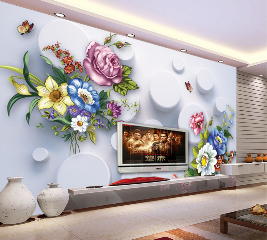 3D Colour Petal 472 Wallpaper Murals Wall Print Wallpaper Mural AJ WALL AU Lemon