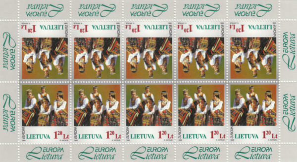 Courageux Lituanie #598 Neuf Sans Charnière Europa Song Festival Mini-feuille 1998 Cv $16.25 Style à La Mode;