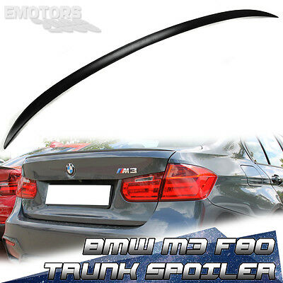 PAINTED BMW 3-seriesr F80 F30 M3 4DR  SALOON M3-TYPE REAR TRUNK SPOILER ABS