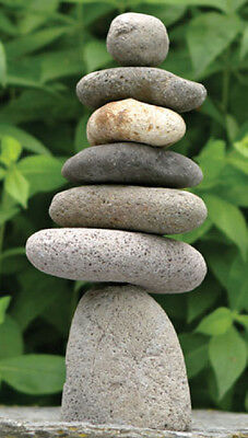 7 Rock Stack Cairn Riverstone Natural River Stone Sculpture Garden Decor Statue