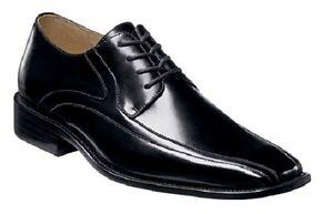 Stacy Adams Mens Peyton Bike Toe Oxford Dress Shoe Black Leather 24610-001