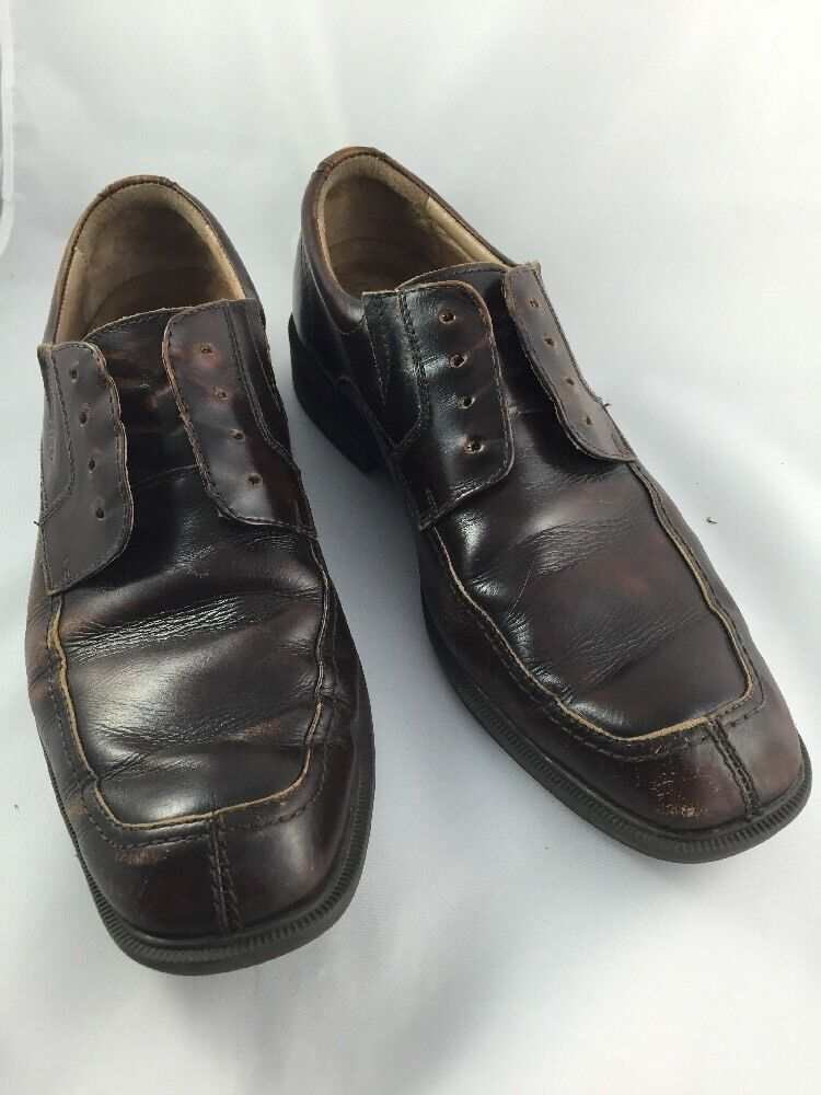 Florsheim brown leather shoe oxford used distressed worn size 12D used oxford 7294df