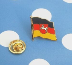 Niedersachsen-Pin-Anstecker-Flaggenpin-Anstecknadel-Badge-Button-Sticker